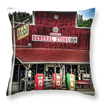 General Store Cataract In. Throw Pillow by Randall Branham