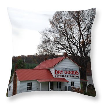 General Store Throw Pillow by Eric Liller