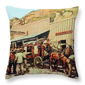 General Store Throw Pillow by Susan Leggett