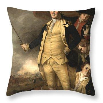 General Washington At The Battle Of Princeton Throw Pillow