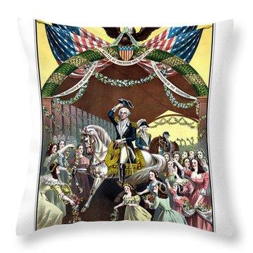 General Washington's Reception At Trenton Throw Pillow