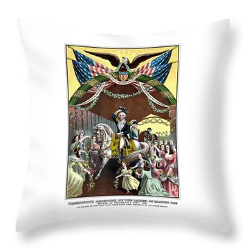 General Washington's Reception At Trenton Throw Pillow