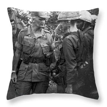 General Westmoreland Throw Pillow