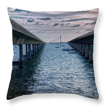 Generations Of Bridges Throw Pillow