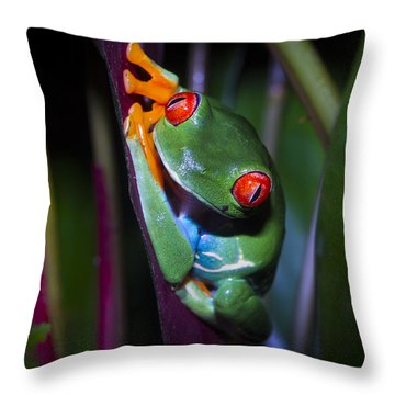 Generously Green Throw Pillow