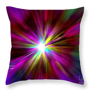 Throw Pillow featuring the digital art Genesis 1 Verse 3 by Greg Moores