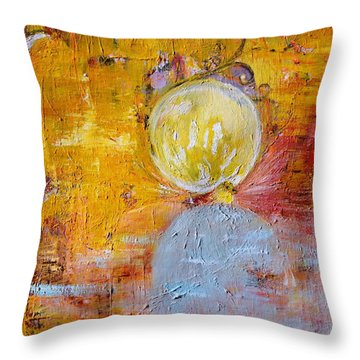 Throw Pillow featuring the painting Genesis by Evelina Popilian