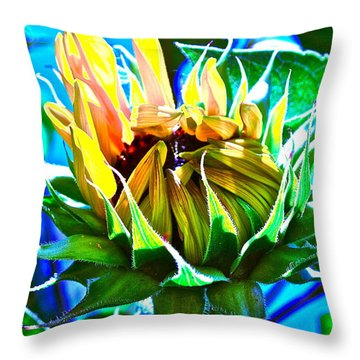 Genesis Throw Pillow by Gwyn Newcombe