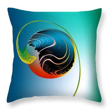Genesis Throw Pillow by Leo Symon