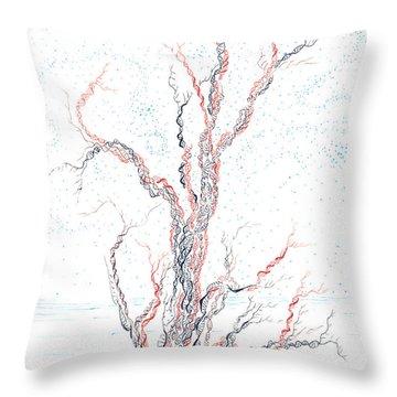 Genetic Branches Throw Pillow by Regina Valluzzi