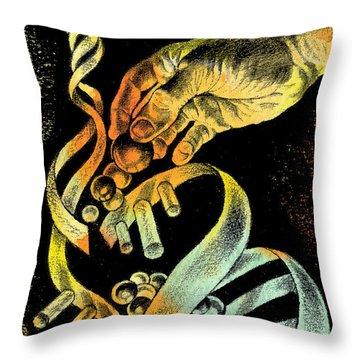Genetic Engineering Throw Pillow