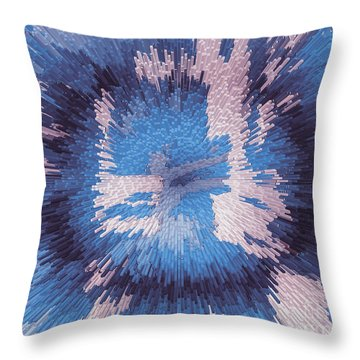 Genetic Engineering Flower Throw Pillow