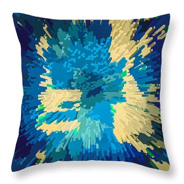 Genetically  Modified Dahlia Throw Pillow