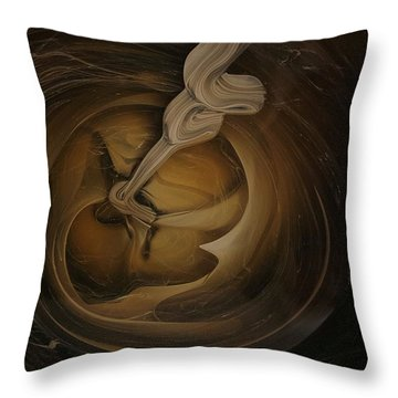 Genie In The Toilet Throw Pillow
