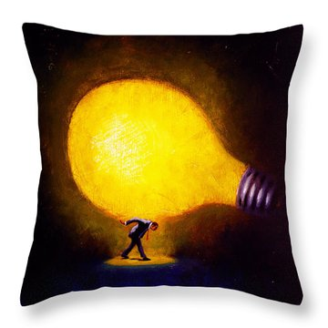 Light Bulb Throw Pillows