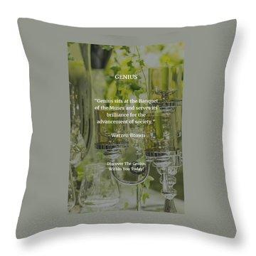 Genius Throw Pillow by Warren Brown