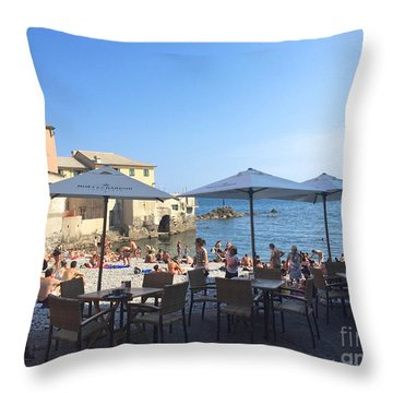 Genova, Boccadasse Throw Pillow