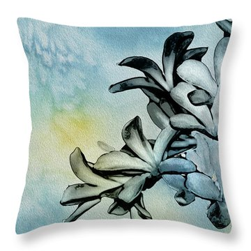 Gentle Blooms Throw Pillow