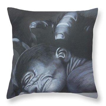 Gentle Caress Throw Pillow by Jean Yves Crispo