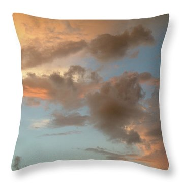 Gentle Clouds Gentle Light Throw Pillow