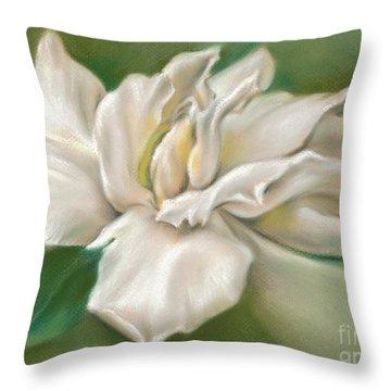 Gentle Gardenia Throw Pillow