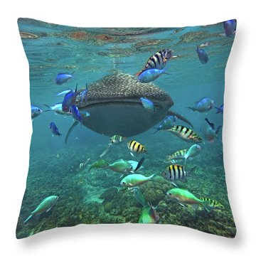 Gentle Giant Throw Pillow by Tim Fitzharris