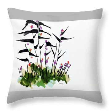 Gentle Grass Throw Pillow