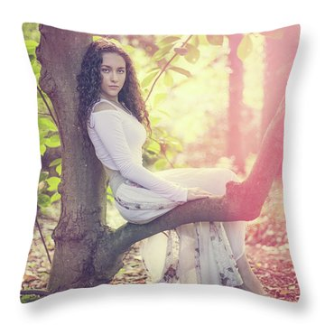 Gentle Hush Of Yesterday Throw Pillow