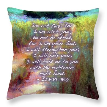 Gentle Journey With Bible Verse Throw Pillow