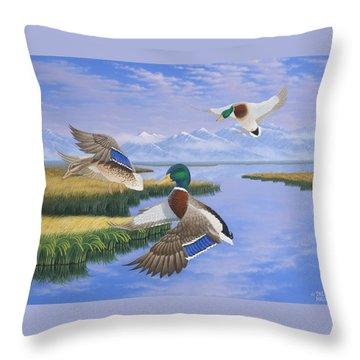 Gentle Landing Throw Pillow