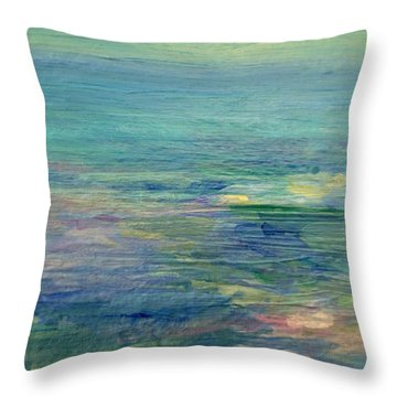 Gentle Light On The Water Throw Pillow