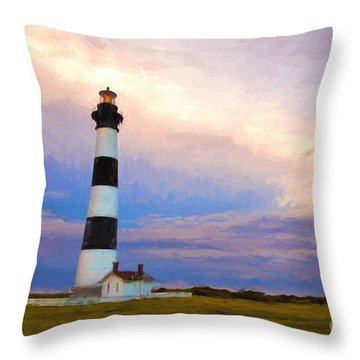 Gentle Pastel Morning Throw Pillow