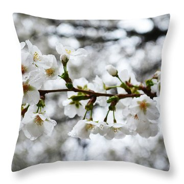 Gentle Purity Throw Pillow