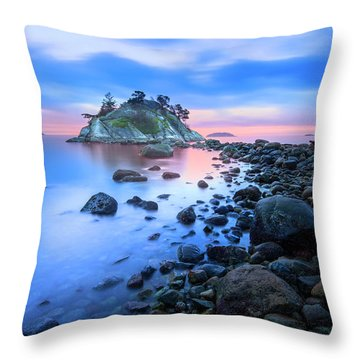 Gentle Sunrise Throw Pillow by John Poon