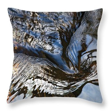 Gentle Swirl Ripple In River-3 Throw Pillow