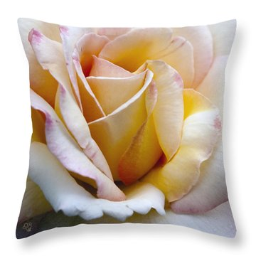 Gentle Swirls And Curls Throw Pillow