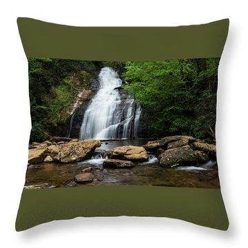 Gentle Waterfall North Georgia Mountains Throw Pillow