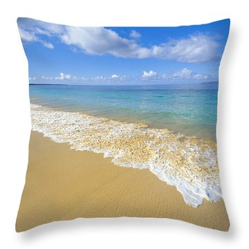 Gentle Waves Rolling Throw Pillow by Carl Shaneff - Printscapes