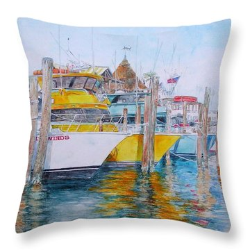 Gentle Winds Throw Pillow
