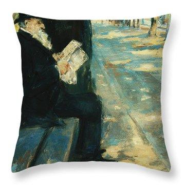 Gentleman In The Park Throw Pillow