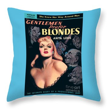 Gentlemen Prefer Blondes Throw Pillow