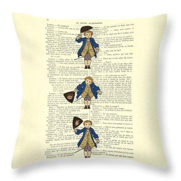 Gentlemen Taking A Bow Dressed As Napoleon Bonaparte Throw Pillow