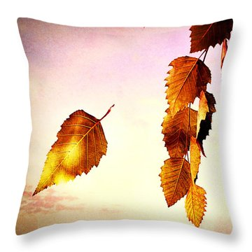 Gently September Throw Pillow by Bob Orsillo