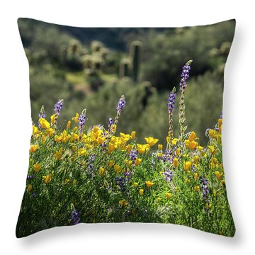 Throw Pillow featuring the photograph Gently Swaying In The Wind  by Saija Lehtonen