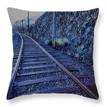 Throw Pillow featuring the photograph Gently Winding Tracks by Jeff Swan