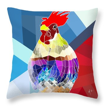 Throw Pillow featuring the digital art Geo Doodle Doo by Mark Taylor