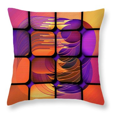 Throw Pillow featuring the digital art Geo Electric by Susan Maxwell Schmidt