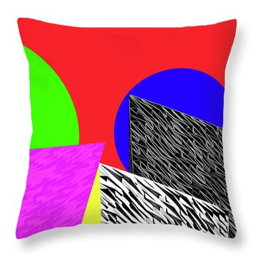 Geo Shapes 2 Throw Pillow by Bruce Iorio