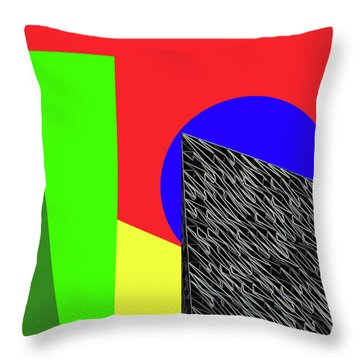 Geo Shapes 3 Throw Pillow by Bruce Iorio