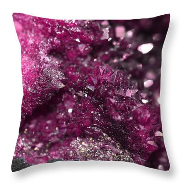 Geode Abstract Raspberry Throw Pillow
